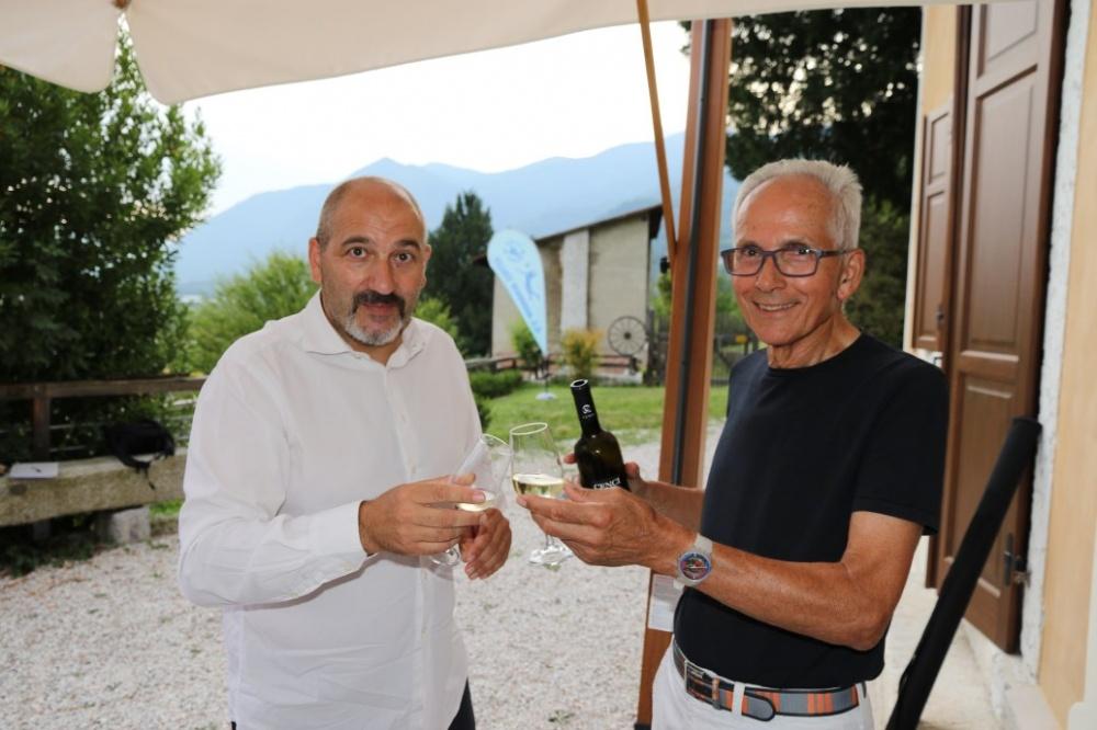 Ferruccio Perini con il presidente Willi Cia