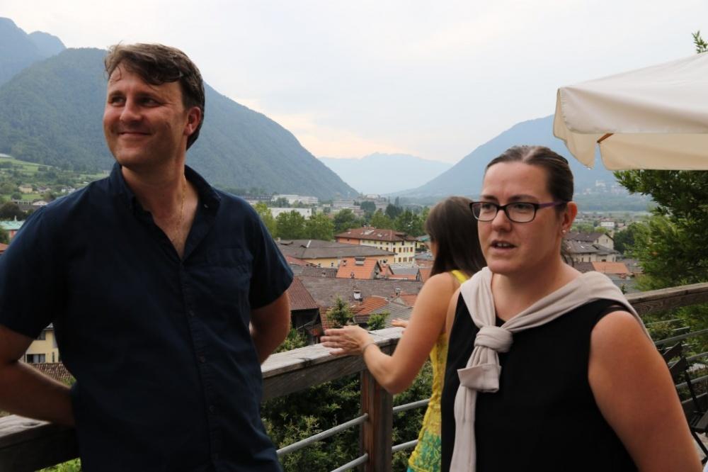 Gli allenatori Marco Dal Sasso e Barbara Facchini