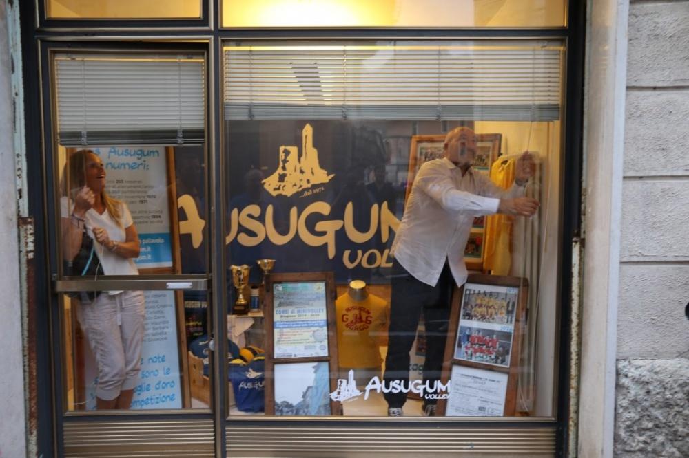 Il momento dell'inaugurazione dell'Ausugum Point in Corso Ausugum - Borgo Valsugana - 23/08/2019