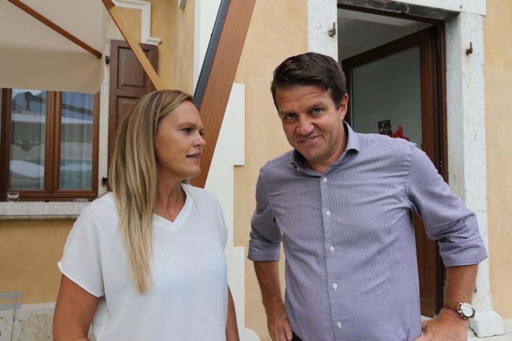 Il Vice Sindaco Bettega con Cristina Ropelato membro del Direttivo GS Ausugum